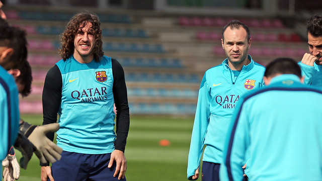 Puyol im Training