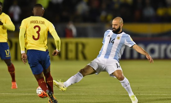 Javier Mascherano im Nationaltrikot