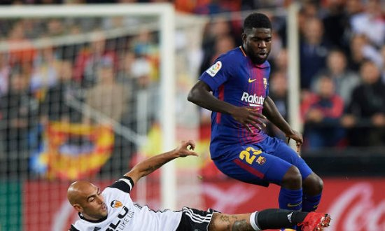 Samuel Umtiti in Aktion