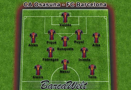 CA Osasuna - FC Barcelona 26.08.2012