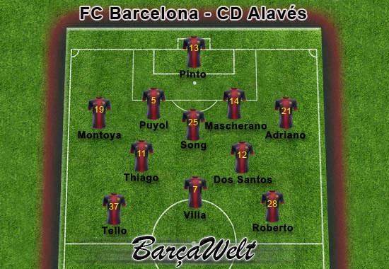 FC Barcelona - CD Alaves 28.11.2012