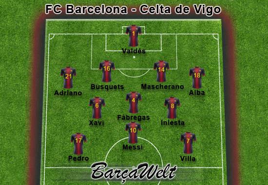 FC Barcelona - Celta de Vigo 03.11.2012