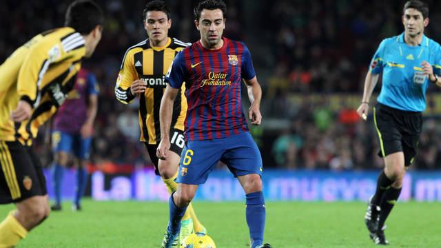 Xavi gegen Zaragoza 2011/12