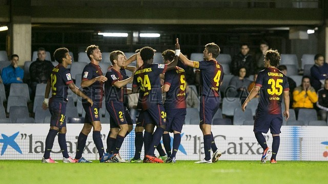 FC Barcelona B Torjubel