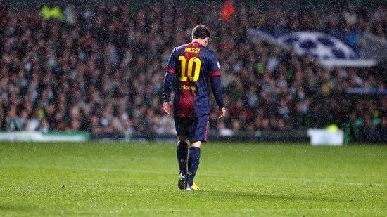 Messi im Regen