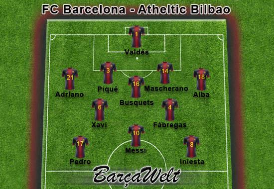 FC Barcelona - Athletic Bilbao 01.12.2012
