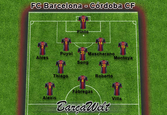FC Barcelona - Cordoba CF 10.01.2013