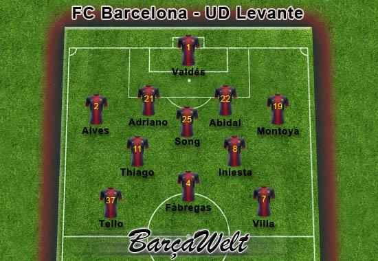FC Barcelona - UD Levante 20.04.2013
