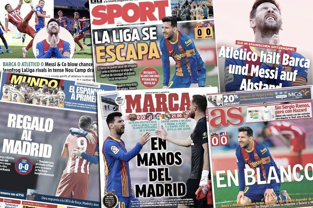 Sport, Mundo Deportivo, Marca, AS, The Sun, Bild. Collage: Barçawelt