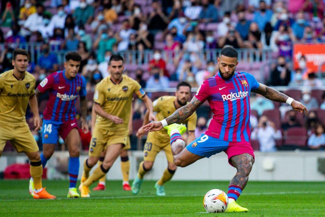 Memphis Depay erzielte das 1:0 für Barça gegen Levante.