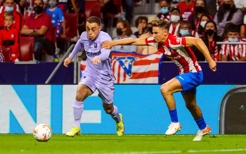 Sergiño Dest bei Barças Niederlage gegen Atlético Madrid.