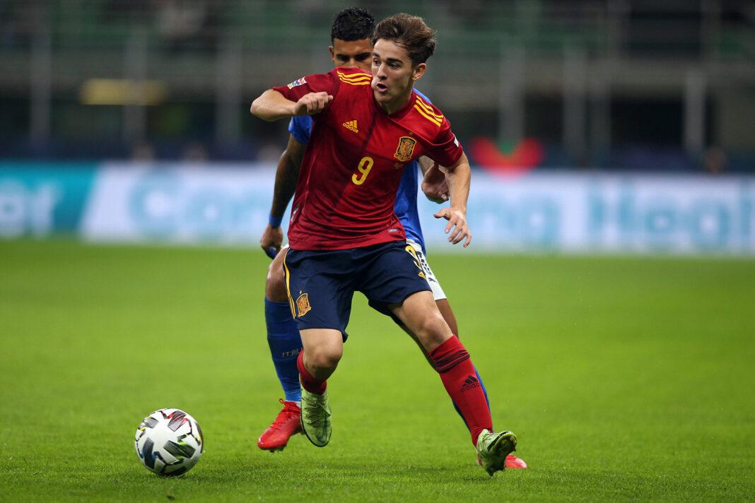 Gavi feierte gegen Italien sein Debüt für Spanien.