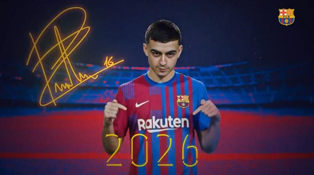 Pedri hat seinen Vertrag beim FC Barcelona bis 2026 verlängert.