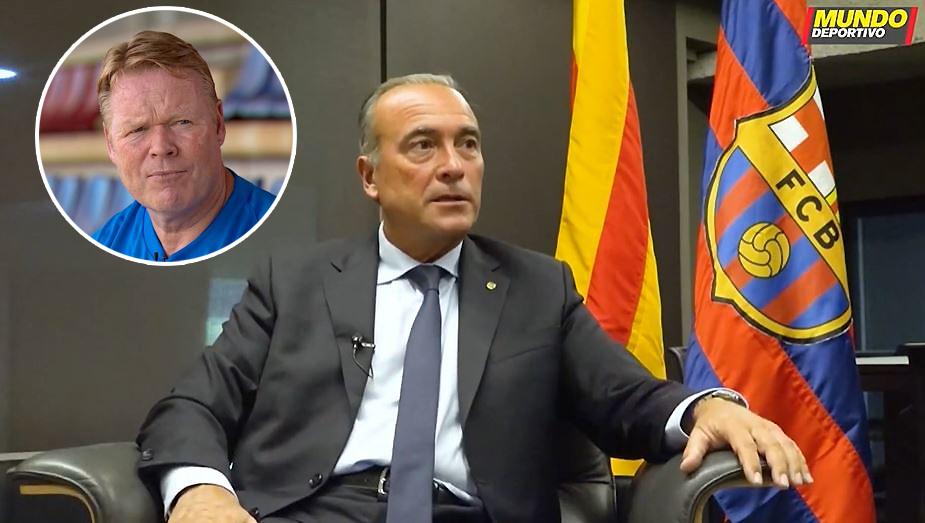 Barcelonas Vizepräsident Rafael Yuste sprach mit der Mundo Deportivo auch über Ronald Koeman.